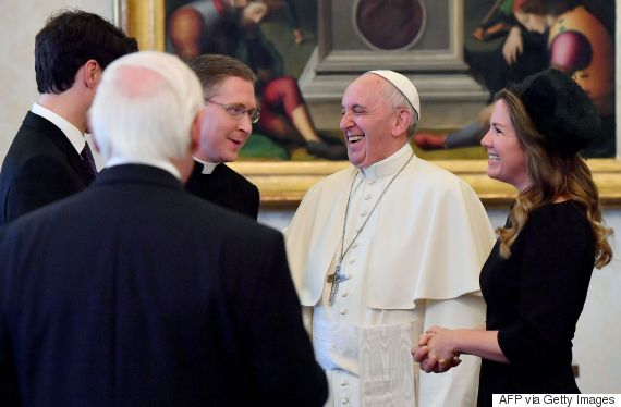 trudeau pope