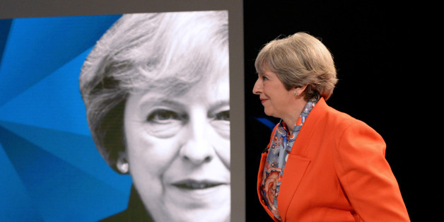 Prime Minister Theresa May appears on a joint Channel 4 and Sky News general election programme recorded at Sky studios in Osterley, west London, May 29, 2017. REUTERS/Stefan Rousseau/Pool