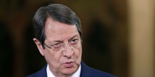 Cypriot President Nicos Anastasiades talks during a televised news conference at the presidential palace in Nicosia on May 22, 2017. / AFP PHOTO / POOL / Petros Karadjias        (Photo credit should read PETROS KARADJIAS/AFP/Getty Images)