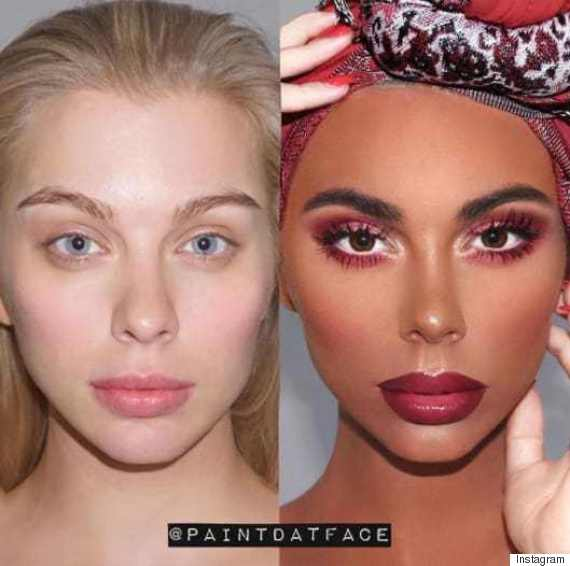 ... fire on social media for a now-deleted photo he posted on his account depicting a makeup transformation where he heavily darkened a white model's skin, ...