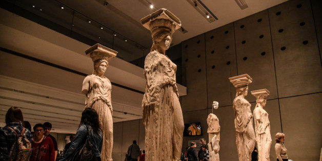 The Caryatids in Athens, Greece, on March 25, 2017. (Photo by Wassilios Aswestopoulos/NurPhoto via Getty Images)