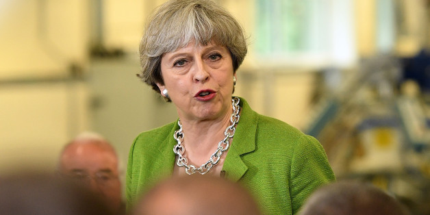 BATH, ENGLAND - MAY 31:  British Prime Minister Theresa May speaks during a Q&A at Cross Manufacturing Company in Odd Down on May 31, 2017 in Bath, United Kingdom. Britain goes to the polls to vote in a general election on June 8.  (Photo by Leon Neal/Getty Images)