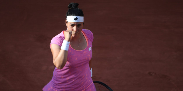 2017 French Open Tennis Tournament - Day Four.  Ons Jabeur of Tunisia in action during her victory over Dominika Cibulkova of Slovakia in the Women's Singles second round match match at the 2017 French Open Tennis Tournament at Roland Garros on May 31st, 2017 in Paris, France.  (Photo by Tim Clayton/Corbis via Getty Images)