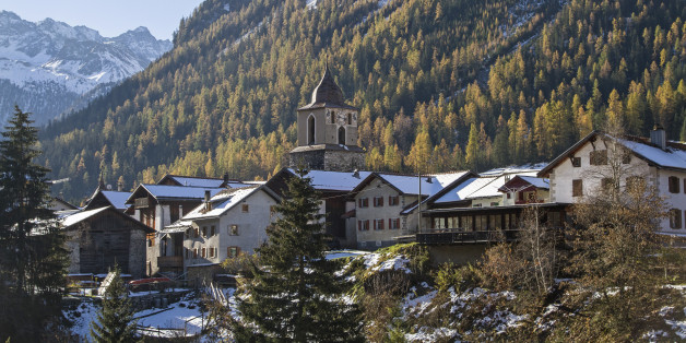 Berguen - idyllic village in the Albula Valley in the Rhaetian Alps