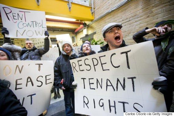 toronto rent protest