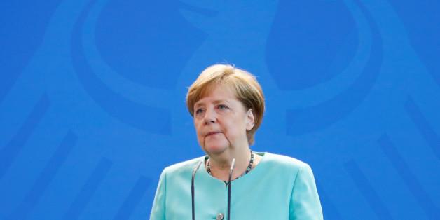 Kanzlerin Merkel bei einer Pressekonferenz zur Entscheidung Trumps, das Parisabkommen zu kündigen