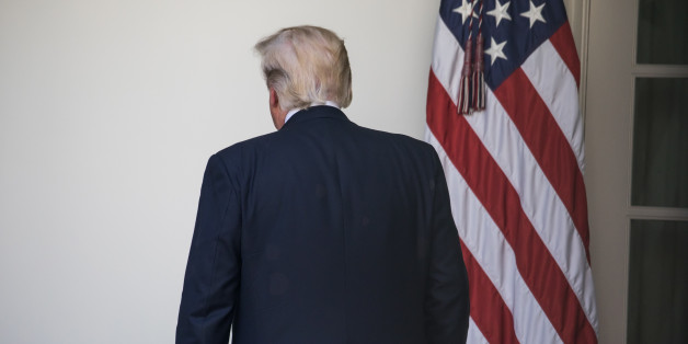 President Donald Trump heads back to the Oval Office, after speaking and making the announcement that the United States is withdrawing from the Paris Climate Accord, in the Rose Garden of the White House, On Thursday, June 1, 2017. (Photo by Cheriss May) (Photo by Cheriss May/NurPhoto via Getty Images)