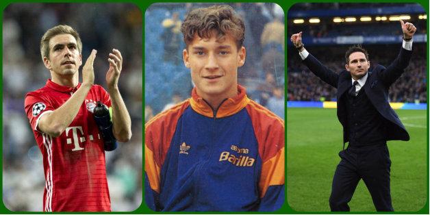 De gauche à droite, Philipp Lahm, Francesco Totti, Frank Lampard