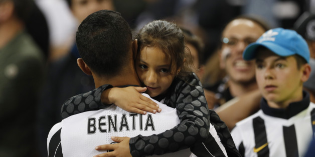 Britain Soccer Football - Juventus v Real Madrid - UEFA Champions League Final - The National Stadium of Wales, Cardiff - June 3, 2017 Juventus' Medhi Benatia with family after the match Reuters / John Sibley Livepic