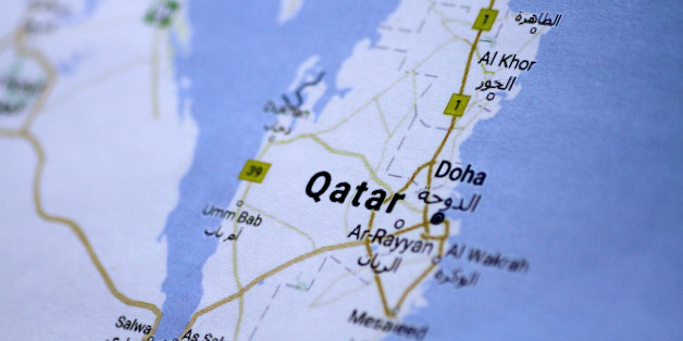 A map of Qatar is seen in this picture illustration June 5, 2017. REUTERS/Thomas White/Illustration