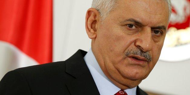 Turkish Prime Minister Binali Yildirim speaks during a news conference in Tbilisi, Georgia, May 23, 2017. REUTERS/David Mdzinarishvili