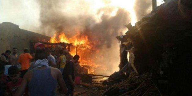 L'incendie a détruit 120 baraques commerciales.