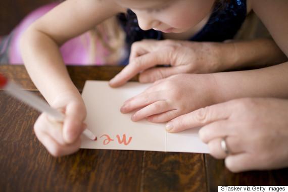card written by child