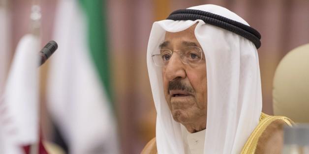 Kuwaiti Emir Sheikh Jaber al-Ahmad al-Sabah attends the U.S. - Gulf Summit at Saudi Arabia's King Abdul Aziz International Conference Center in Riyadh, Saudi Arabia May 21, 2017. (Photo by BANDAR ALGALOUD / SAUDI ROYAL COUNCIL / HANDOUT/Anadolu Agency/Getty Images)