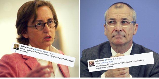 Grünen-Politiker Beck stellt AfD-Vize Storch bloß