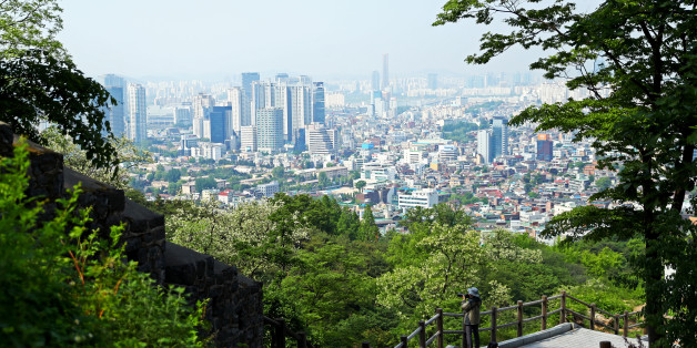 SEOUL, SOUTH KOREA - MAY 18: A view of the city skyline from Namsan Park on May 18, 2017 in Seoul, South Korea. The FIFA U-20 World Cup Korea Republic 2017 will kick off on May 20. (Photo by Maddie Meyer - FIFA/FIFA via Getty Images)