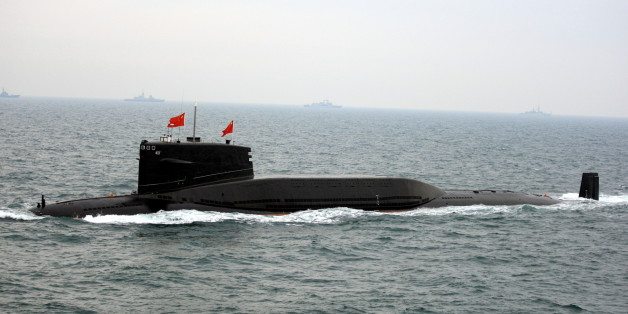 QINGDAO, CHINA-APRIL 23:(CHINA OUT) A Chinese Navy submarine participates in an international fleet review to celebrate the 60th anniversary of the founding of the People's Liberation Army Navy on April 23, 2009 in Qingdao of Shandong Province, China. Chinese warships and nuclear submarines were paraded as China held an international fleet review, attended by 14 other nations including the U.S. and Russia, in the northern Chinese Navy port of Qingdao to mark the anniversary. (Photo by Zhang Lei/VCG via Getty Images)