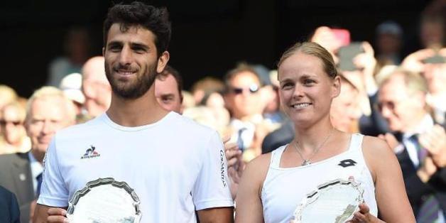 Die Deutsche Anna-Lena Grönefeld steht zusammen mit ihrem kolumbianischen Mixed-Partner Robert Farah im Finale der French Open 2017.