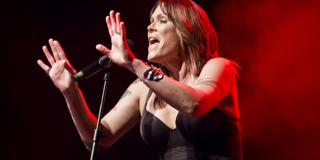 BERLIN, GERMANY - MAY 14: American Singer Beth Hart performs live on stage during a concert at the Columbiahalle on May 14, 2017 in Berlin, Germany. (Photo by Frank Hoensch/Redferns)