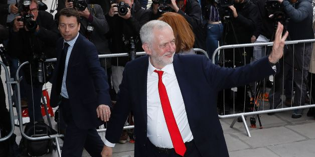 Britain's opposition Labour party Leader Jeremy Corbyn arrives at Labour Party headquarters in central London on June 9, 2017 after results in a snap general election showing a hung parliament with Labour gains and the Conservatives losing its majority. British Prime Minister Theresa May faced pressure to resign on Friday after losing her parliamentary majority, plunging the country into uncertainty as Brexit talks loom. The pound fell sharply amid fears the Conservative leader will be unable to form a government and could even be forced out of office after a troubled campaign overshadowed by two terror attacks. / AFP PHOTO / Odd ANDERSEN        (Photo credit should read ODD ANDERSEN/AFP/Getty Images)