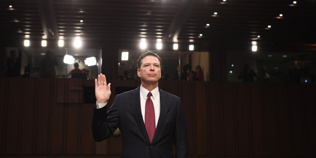 WASHINGTON, DC- JUNE 08: Former FBI Director, James Comey appears before the Senate Intelligence Committee in the Hart Office Building on Thursday June 08, 2017 in Washington, DC. (Photo by Matt McClain/The Washington Post via Getty Images)