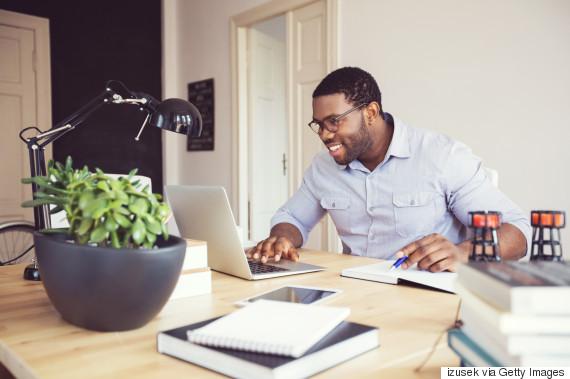 black man laptop