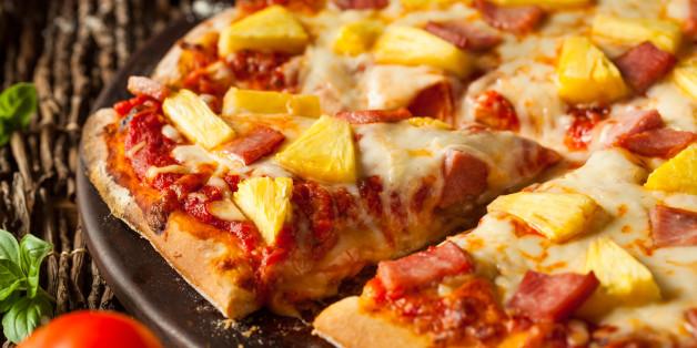 Homemade Pineapple and Ham Hawaiian Pizza Ready to Eat