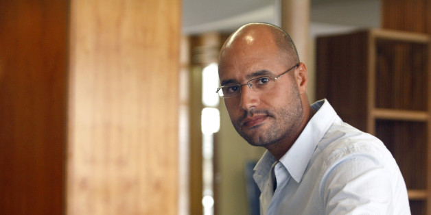 Saif al-Islam, son of Libyan leader Muammar Gaddafi, indicates that Libya plans an enhanced oil recovery round to develop its production capacity during an interview with Reuters in Nice July 30, 2007. Libya has held three oil exploration licensing rounds since the end of Western sanctions against the government in 2004, awarding permits to firms in what is considered one of the world's last under-explored oil-promising regions.   REUTERS/Gilbert Tourte   (FRANCE)