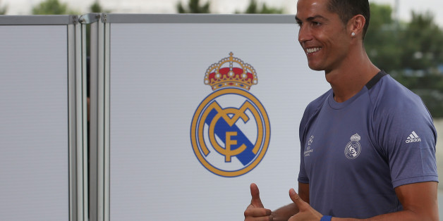 Football Soccer - Real Madrid training session - UEFA Champions League Final - Valdebebas Soccer Grounds, Madrid, Spain - 30/5/17 - Real Madrid's Cristiano Ronaldo gestures after a training session during open media day. REUTERS/Sergio Perez