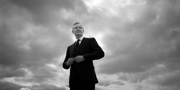 French Economy Minister Bruno Le Maire poses during a photo session on the helipad on the roof of his ministry, on May 30, 2017 in Paris. / AFP PHOTO / JOEL SAGET / BLACK AND WHITE VERSION        (Photo credit should read JOEL SAGET/AFP/Getty Images)