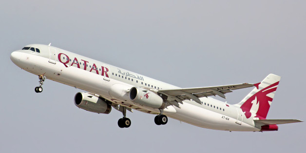 Moscow, Russia - May 10, 2013: Qatar Airways Airbus A321 takes off the Domodedovo International Airport.