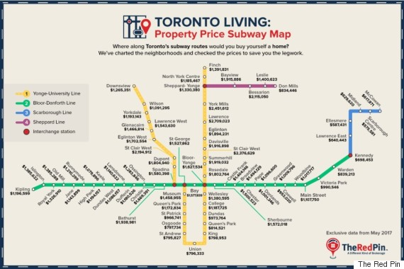 house price subway map