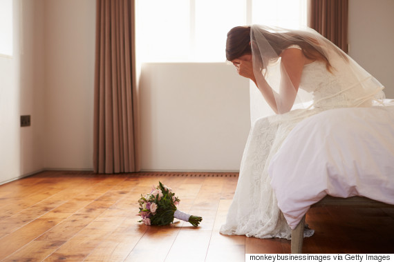 wedding dress unhappy