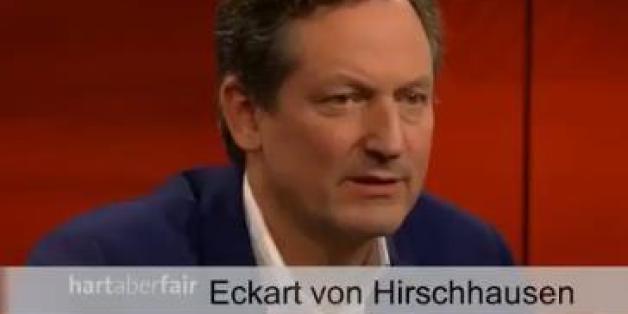 """Der Medizin-Journalist Eckart von Hirschhausen bei """"Hart aber fair"""""""