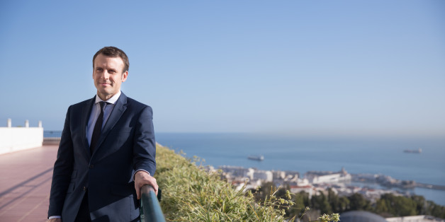 ALGER, ALGERIA - FEBRUARY 14: Former French Economy Minister, Founder and Leader of the political movement 'En Marche !' and candidate for the 2017 French Presidential Election Emmanuel Macron poses on a terrace on February 14, 2017 in Alger, Algeria. Emmanuel Macron is traveling to Algeria on 13 and 14 February to meet ministers and politicians. (Photo by Soazig De La Moissonniere/IP3/Getty Images)