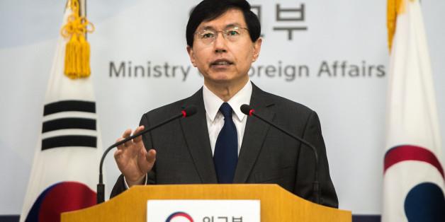 조준혁 외교부 대변인이 북한의 탄도미사일 발사에 대한 정부성명을 발표하고 있다. © News1