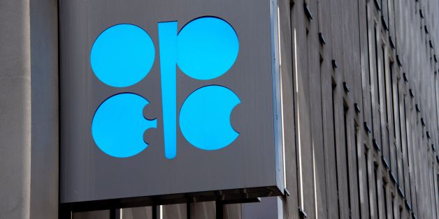 OPEC logo is seen at the OPEC headquarters in Vienna on May 24, 2017, on the eve of the Organization of the Petroleum Exporting Countries (OPEC) meeting. / AFP PHOTO / JOE KLAMAR        (Photo credit should read JOE KLAMAR/AFP/Getty Images)