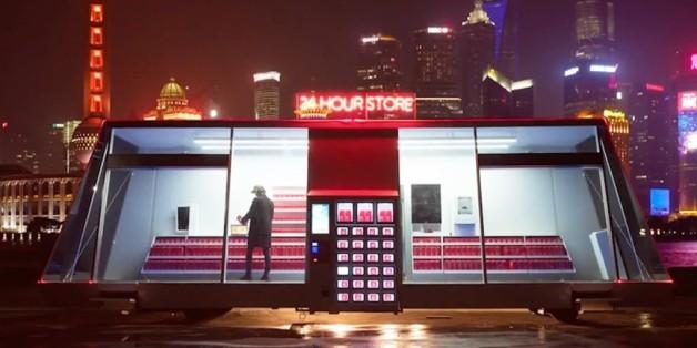 Dieser Supermarkt in Shanghai soll selbst zu seinem Kunden fahren