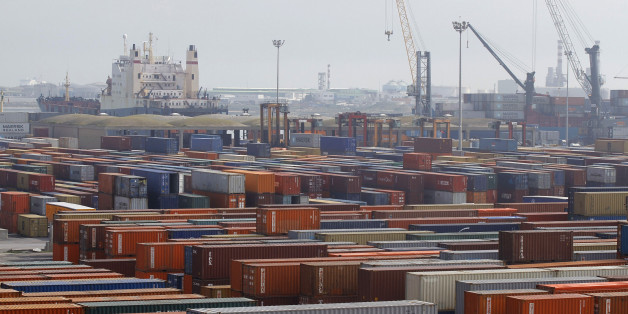 A general view shows a shipping container area at the port of Halk al-Wad, in Tunis February 19, 2013. Economic disaster is by no means inevitable. New foreign direct investment jumped to 3.00 billion dinars in 2012 from 1.62 billion in 2011, partly because of privatisations, according to official data. Last year's total exceeded the 2.17 billion dinars recorded in 2010, before the revolution. The data shows that because of Tunisia's strengths, including its educated population and proximity to