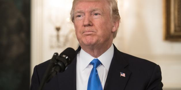 US President Donald Trump delivers a statement in the Diplomatic Room at the White House in Washington, DC, on June 14, 2017 after House Majority Whip Steve Scalise was shot in nearby Alexandria, Virginia.The man who opened fire on Republican lawmakers at a baseball practice early Wednesday, wounding a top congressman and three others, has died of injuries sustained in a shootout with police, President Donald Trump said. 'Many lives would have been lost, if not for the heroic actions of the two