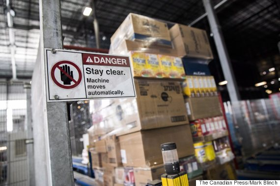 retail robot danger sign