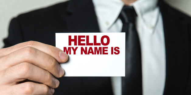 Hello My Name Is... card