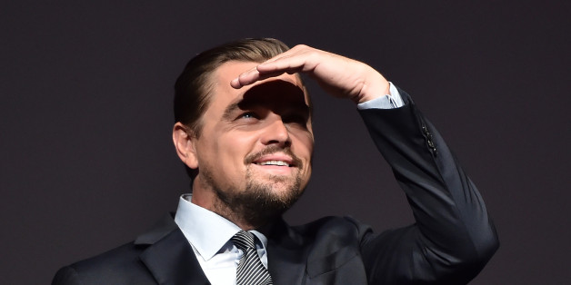 """U.S. actor Leonardo DiCaprio looks on prior to speaking on stage during the Paris premiere of the documentary film """"Before the Flood"""" on October 17, 2016 at the Theatre du Chatelet in Paris, France.    REUTERS/Christophe Archambault/Pool"""