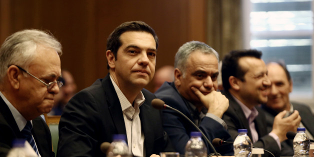 PM Alexis Tsipras, during a Government cabinet meeting, at Parliament, in Athens, on June 13, 2017  about the extend of catastrophy on the island of Lesbos due to the major earthquake of June 12, 2017. (Photo by Panayotis Tzamaros/NurPhoto via Getty Images)