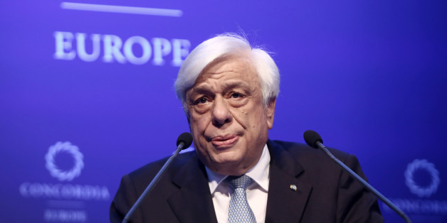 President of the Hellenic Republic Prokopios Pavlopoulos delivers a speech at the opening of the Concordia Europe Summit, in Athens on June 6, 2017 (Photo by Panayotis Tzamaros/NurPhoto via Getty Images)
