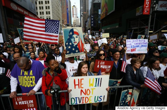 trump islam ban 2017 protest muslim york