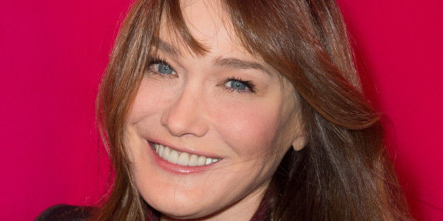 Carla Bruni-Sarkozy attends the Schiaparelli show as part of Paris Fashion Week Haute Couture Spring/Summer 2015 on January 26, 2015 in Paris, France. (Photo by Stephane Cardinale/Corbis via Getty Images)
