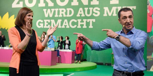 Spitzenduo führt den Wahlkampf: Katrin Göring-Eckardt und Cem Özdemir