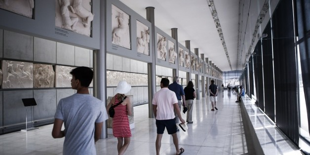 ATHENS, GREECE - DECEMBER 01: A view of the Acropolis Museum in Athens, Greece on December 01, 2016. Acropolis Museum, opened in 2009, has an average of 4,000 visitors per day. Four thousand historical findings are exhibited at the Acropolis Museum with the exhibition area of 14 thousand square meters. (Photo by Ayhan Mehmet/Anadolu Agency/Getty Images)