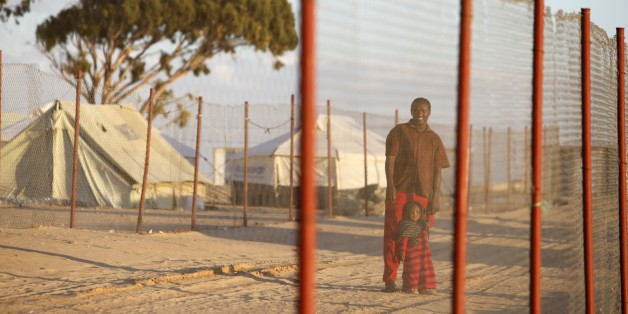 Refugees in Choucha camp, Ras Jedir, Tunisia. (Photo by: Godong/UIG via Getty Images)